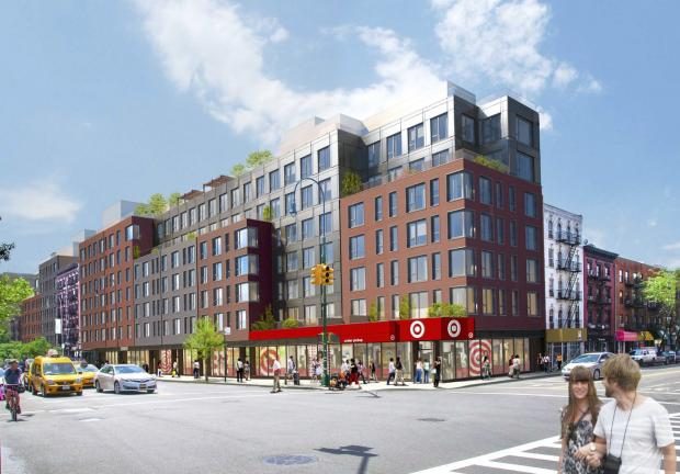 A new rendering of the development shows Target on the ground floor.