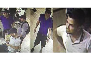 Police are looking for three men they said used a stolen credit card to purchase $800 in goods for a Diesel store at Columbus Circle on Aug. 3, 2016.