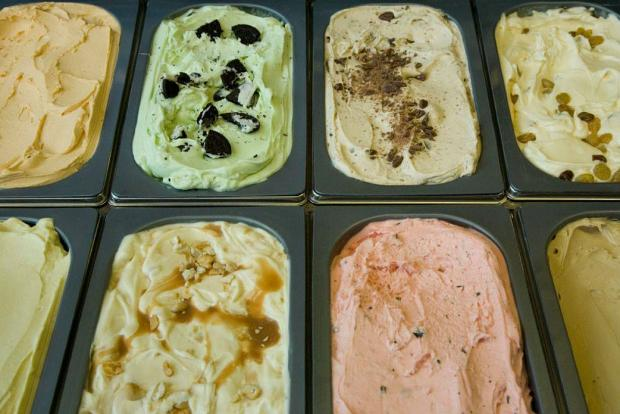 Black Dog Gelato makes its gelato in small batches, changing up flavors frequently.