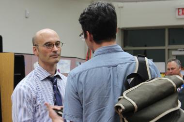Brian Tennison was chosen the new principal of Lane Tech College Prep High School.