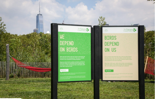 A new series of signs and a mobile app will guide visitors through Governors Island's unique nature.