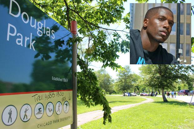 My Block My Hood My City, led by founder Jahmal Cole (right), will host a cleanup at Douglas Park Monday afternoon.