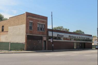 The vacant Elston Ace Hardware building, 2819 W. Belmont Ave., could be replaced with a mixed-use development.