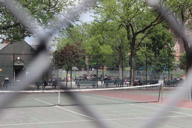 St. Mary's Park in Mott Haven is heavily used despite some of the poor conditions there. The city will spend $150 million to revive five large and underserved parks, one in each borough, including St. Mary's, Mayor Bill de Blasio announced.