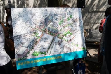 The rezoning is part of a large redevelopment plan for downtown Far Rockaway