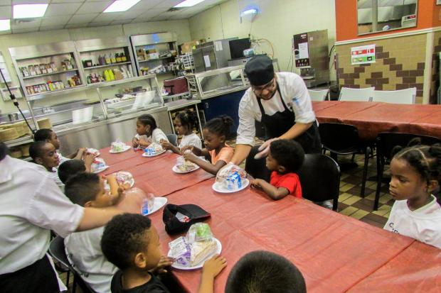 food bank offers free meals for students before they head