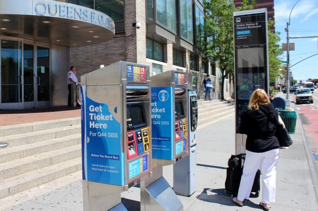 The fare payment machines at the Archer Avenue/153rd Street bus stop broke more than 2 months ago.