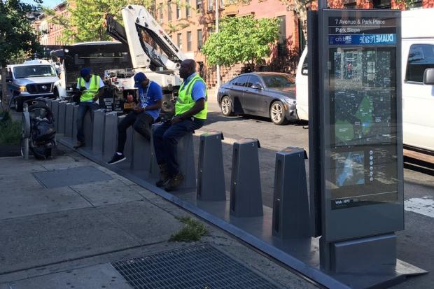 A Citi Bike docking station was installed recently at Seventh Avenue and Park Place, one of about two dozen coming to Park Slope.