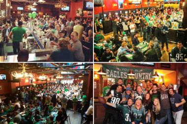 Mad River Bar is packed with up to 400 Philadelphia Eagles fans for every one of Philly's games.