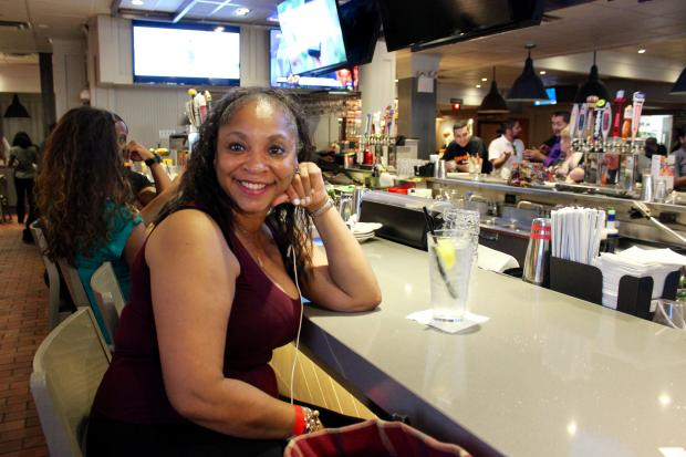 Liz Newton comes to the Forest Hills TGI Friday's four to five times a week.