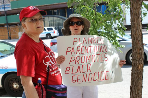 Anti-abortion activists held a Tuesday news conference.