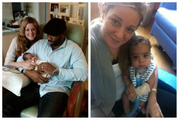 Carrie and Terry Meghie with their son, Jackson, at Lurie's Childrens Hospital in 2012.