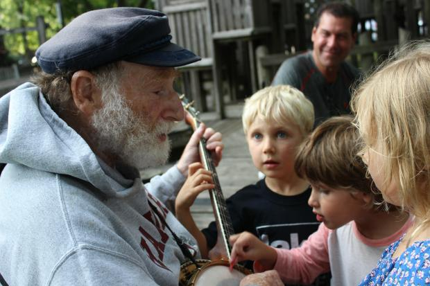 Former lawyerEdward Berger, 76, has become a neighborhood staple for his banjo playing.