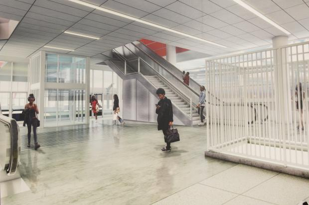 This is what the front of the 95th Street Red Line Station will look like after construction.