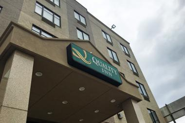 The city is renting rooms at the Quality Inn on Queens Boulevard in Woodside to house homeless families with children.