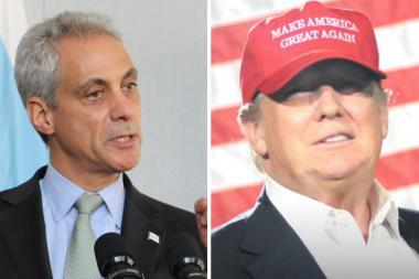 Rahm Emanuel and Donald Trump