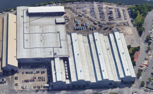 Fleet and Facility Management's current 18-acre site near Goose Island.