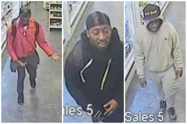 Three men are wanted by police for participating in a two-month long stealing spree of $3,000 worth of ice cream.