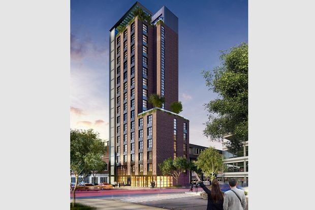 A new hotel planned for Downtown Jamaica will feature a rooftop bar and a space to practice yoga, according to TCX Development.