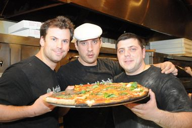 Peter Leonforte, Francis Garcia and Sal Basille are opening Artichoke Basille's Pizzera in the former home of Northeast Kingdom in late September.