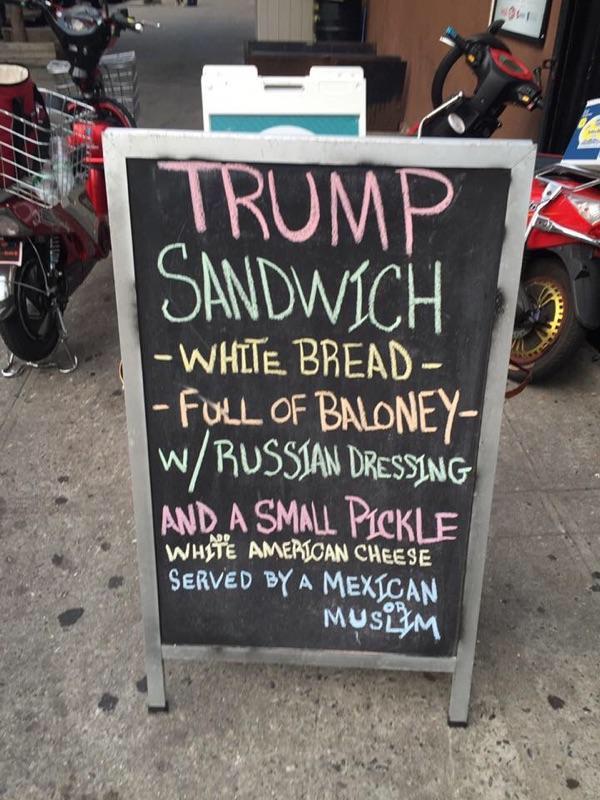 'Trump Sandwich' From ...