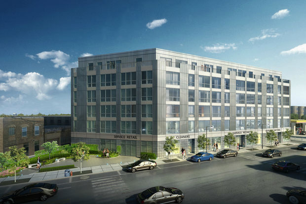A rendering of the development at 2342-48 N. California Ave.