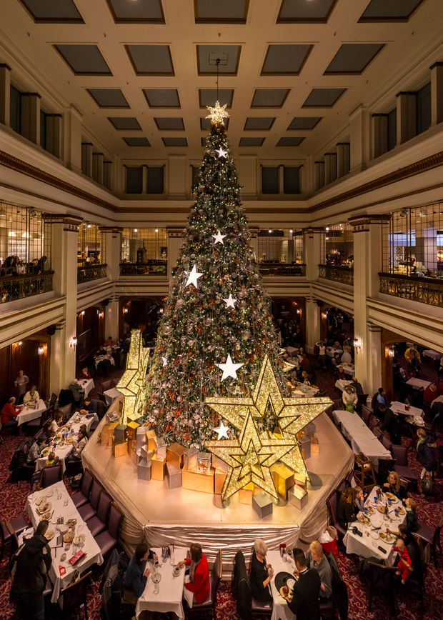 The Walnut Room is on the seventh floor of Macy's on State Street.
