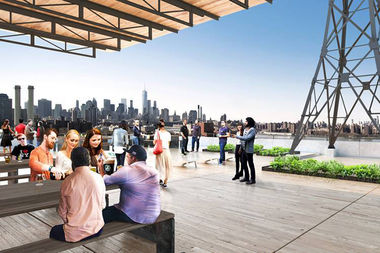Brooklyn Brewery's rooftop bar at the Brooklyn Navy Yard is set to open in April 2018.