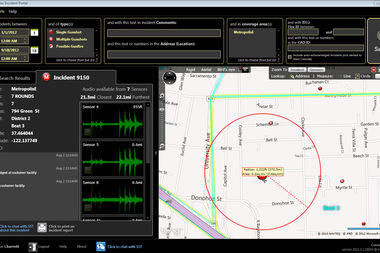 This image shows how ShotSpotter works.