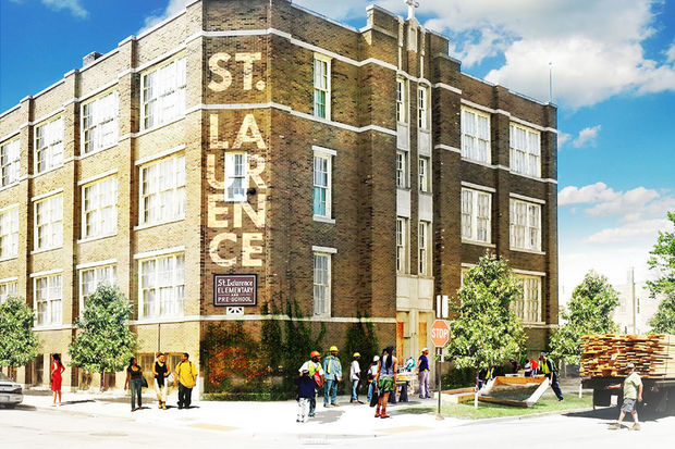 The former St. Laurence Catholic school will become a maker space and hub for arts apprenticeships under the proposal.