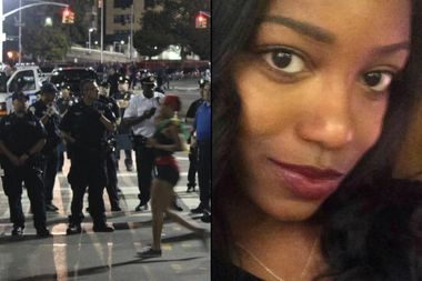 Tiarah Poyau, 22, at right, was shot and killed during the J'Ouvert parade on Empire Boulevard, left, on Labor Day of 2016.