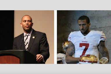 Brooklyn Rep. Hakeem Jeffries said quarterback Colin Kaepernick should suspend his national anthem boycott for the 15th anniversary of 9/11.