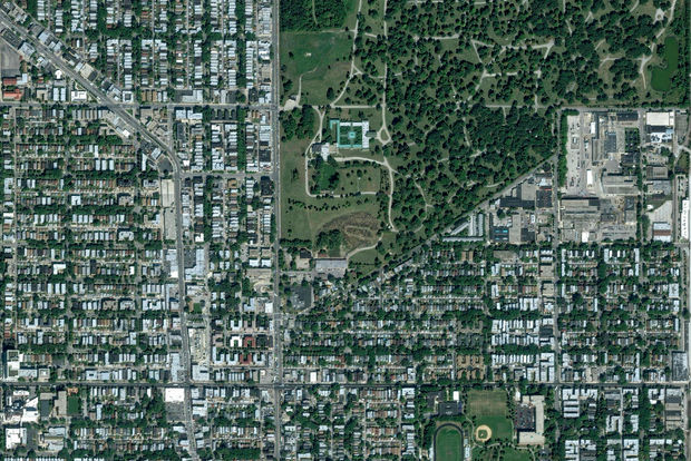 Lincoln Square Looks More Dead Than Alive From A Satellite