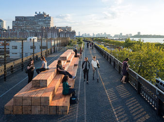 Trash and other refuse would whiz through a pressurized tube running along the bottom of the High Line.