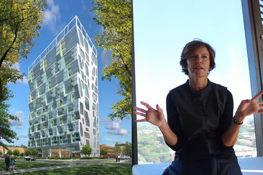 Jeanne Gang on Monday explained how she changed the design of Solstice on the Park to improve energy efficiency.