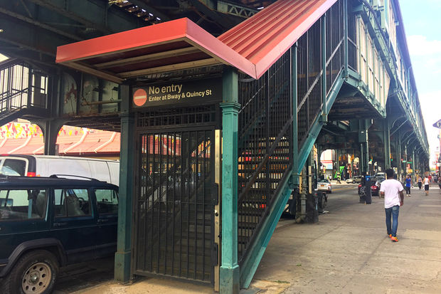 J Z Train Riders Want Shuttered Station Entrances Open On