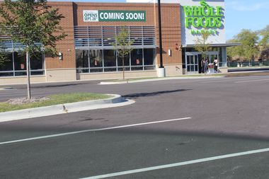 Whole Foods opens September 28.