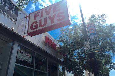 The burger chain Five Guys Burgers and Fries closed Saturday in East Lakeview.
