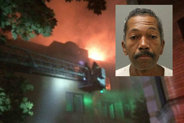 Reginald Hester, 51, was charged in connection with a fire that killed three young girls and an adult man.