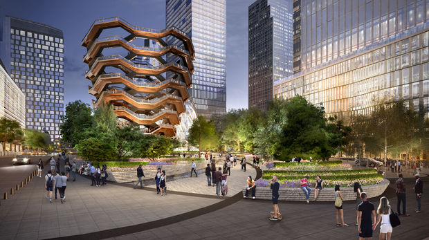 "Hudson Yards' developers revealed renderings of the 15-story structure, known as ""Vessel,"" on Wednesday."