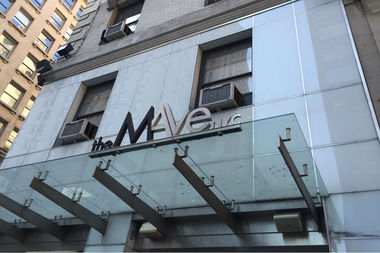 A night manager at the MAve Hotel assaulted a guest after she cracked the front door in a late-night attempt to get inside, police said.