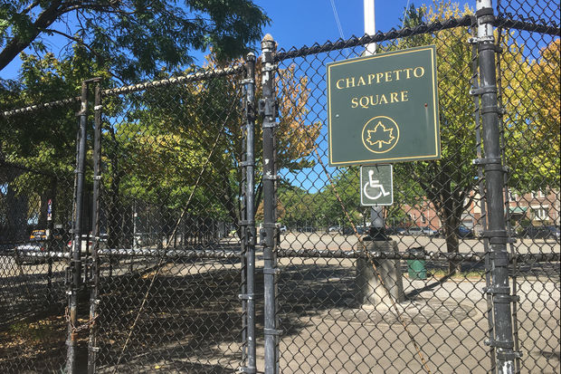 Chappetto Square, a Parks Department space located on Hoyt Avenue North and 23rd Street.