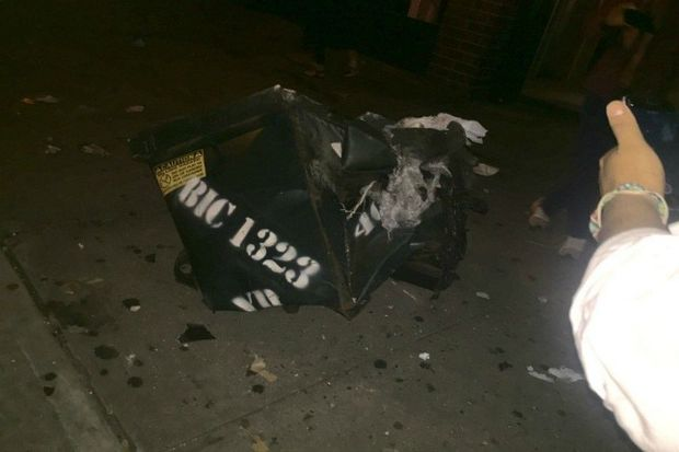 An explosion near a dumpster on West 23rd Street at Sixth Avenue injured 29 people, sources said.