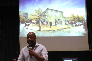 Artist Theaster Gates is planning an arts center in a former police station in Bronzeville.