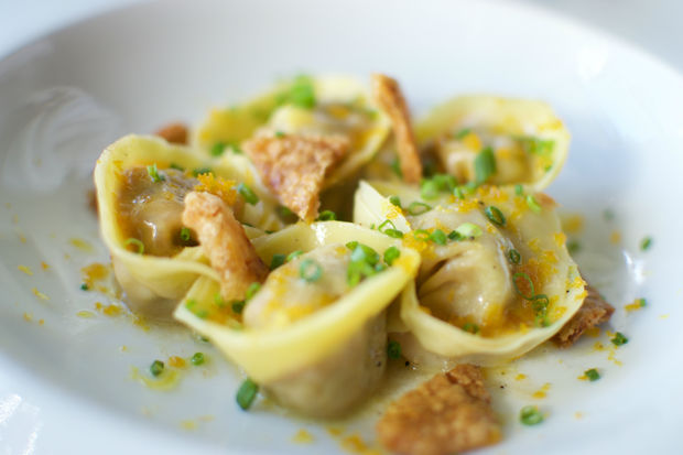 This tortelloni from Osteria Langhe including pork and foie gras will be served at Dumpling Fest.