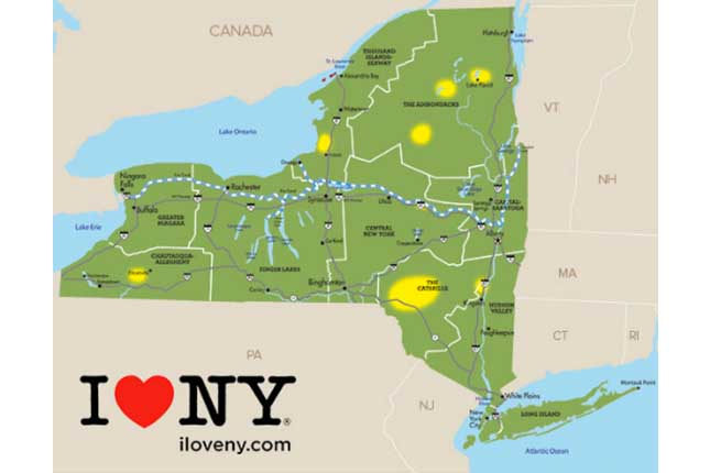 Picture Of New York Map.Map Here S Where The Fall Leaves Are Changing In New York State