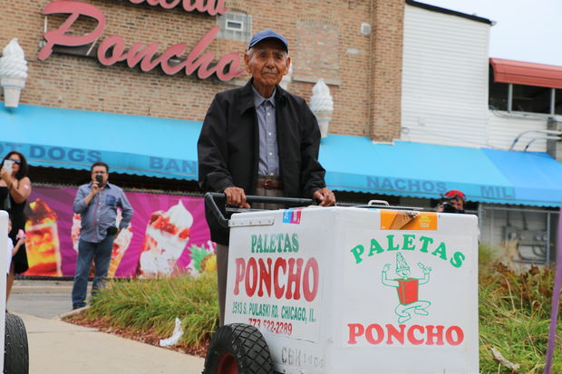 """The  """"Paleta Man"""" who inspired the world  has been  given his check for $385,000  — but he doesn't plan on giving up work."""