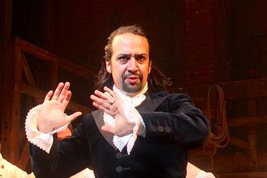 Lin-Manuel Miranda in a New York performance of