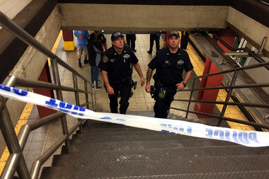 A 38-year-old man was slashed on the uptown B, D, F and M platform at the Bryant Park subway station Thursday morning, the FDNY said.
