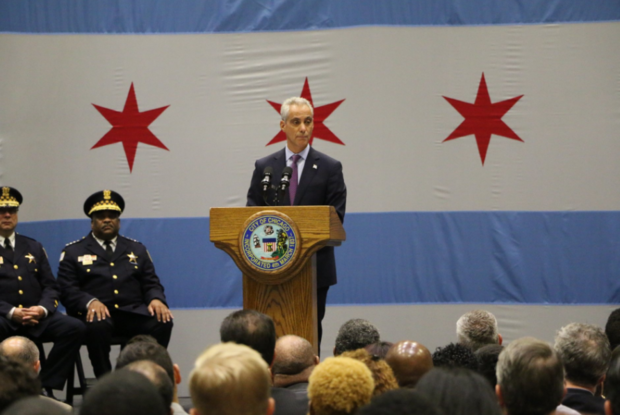 Rahm Emanuel gives a major policy speech on violence Thursday.